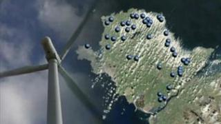 Anglesey Against Wind Turbines say their map shows where the developments will be