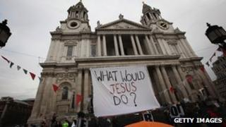 Occupy London protest outside St Paul's Cathedral