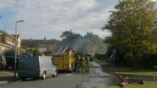 Rayleigh garage fire scene