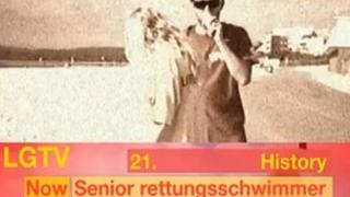 """One lifeguard impersonates Adolf Hitler in the """"Lifeguards Awesome"""" video on YouTube"""