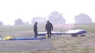 Glider crash site near Ashbourne