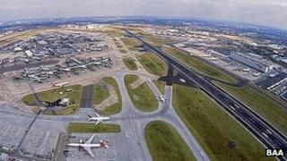 Aerial image of Heathrow Airport