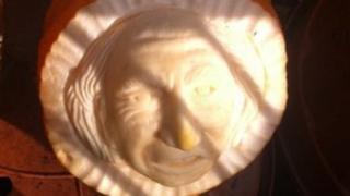 Michael D Higgins carving
