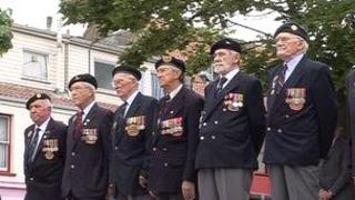 Ex-servicemen at the D-day commemorations in June 2011