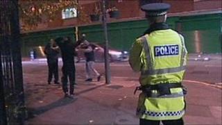 Merseyside Police on patrol on Mischief Night