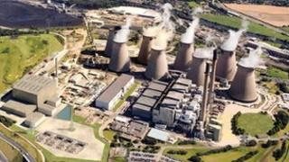 Ferrybridge coal fired power station