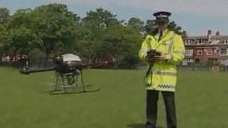 Police using the drone