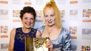 Christine Emmett (left) and Dame Vivienne Westwood