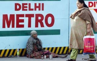 Beggar in New Delhi