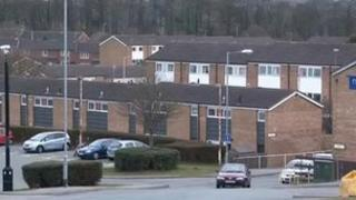Plas Madoc estate at Acrefair, Wrexham