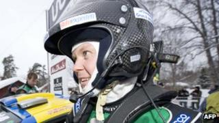 Rally driver PG Andersson at the Rally of Sweden in Gustavsfors, north of Karlstad, on 13 February 2011 (Photo: JONATHAN NACKSTRAND/AFP/Getty Image)