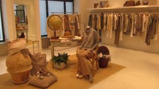 Brunello Cucinelli's showroom in Milan