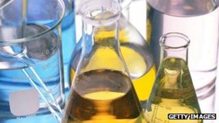 Laboratory chemical beakers