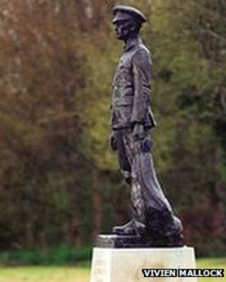 The Tidworth memorial statue