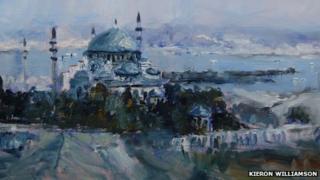 Suleymaniye Mosque at Istanbul, Turkey (detail) by Kieron Williamson