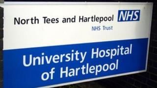 The North Tees and Hartlepool NHS Foundation Trust sign