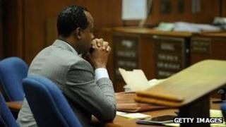 Dr Conrad Murray sits in a LA courtroom on 1 November 2011