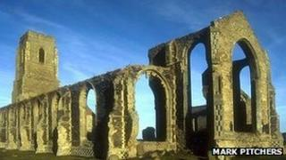 St Andrew's in Covehithe is threatened by coastal erosion (Pic: Mark Pitchers)