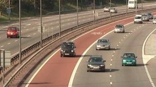 M4 with bus lane