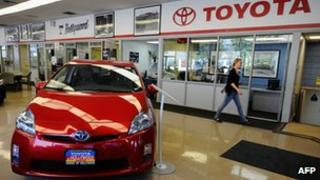 Toyota showroom in the US