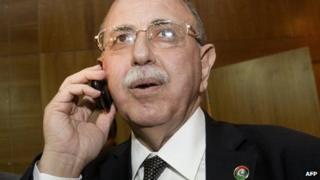 Libya's Prime Minister Abdurrahim al-Keib (31 October 2011)