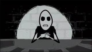 Screengrab from YouTube video of cartoon character Mr Freeman