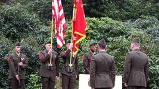 US Marines at ceremony
