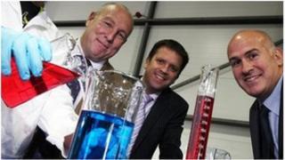 Steve Hickson of Hydratech Ltd, Mark Hislop of Advantage Accountancy and Glyn Thomas UK Steel Enterprise