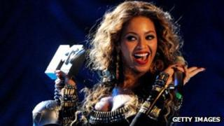 Beyonce at the 2009 MTV Awards in Berlin