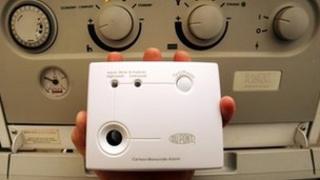 A carbon monoxide alarm