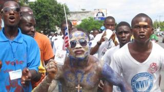 CDC supporters in Monrovia