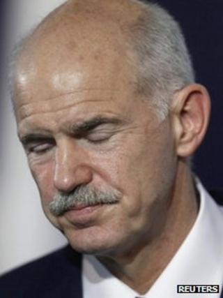 Greek Prime Minister George Papandreou (2 Nov 2011)