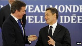 David Cameron and Nicolas Sarkozy in Cannes