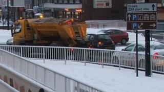 Gritting lorry in Ipswich