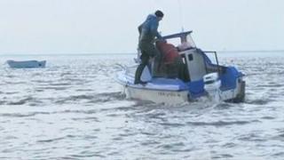 Fishermen in Lancashire