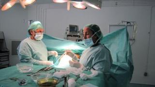 A patient in surgery at Rabat's Clinic Slaoui