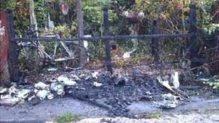 Sofa, bike and fence burnt in Lincolnshire