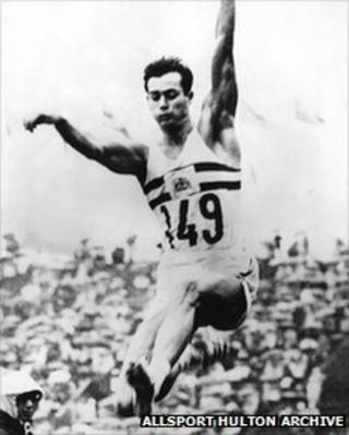 Lynn Davies at the 1964 Olympic Games