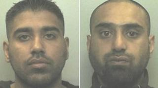 Isbar Ellahi and Shafiq Mohammed (images from Staffordshire Police)