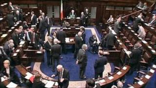 Chamber of Dail Eireann