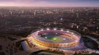 Artist's impression of London's Olympic Stadium
