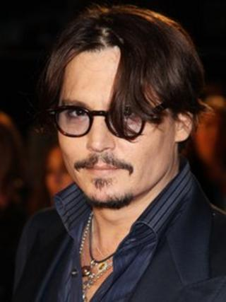 Johnny Depp at The Rum Diary premiere