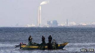 Fishing boats off the Gaza coast (4 Nov 2011)