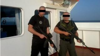 Sea Marshals armed security on board a ship