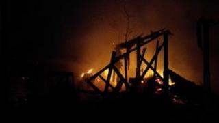 Fire at Farmer Palmer's Farm Park near Poole