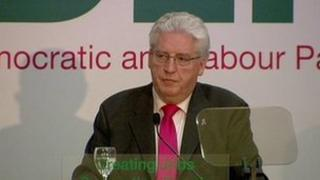 Alasdair McDonnell giving his conference speech