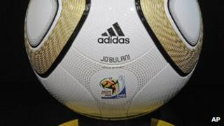Adidas ball used in the 2010 FIFA World Cup