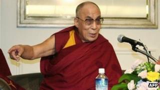 The Dalai Lama speaks to the media in Japan on 4 November 2011