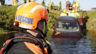 Water rescue training exercise
