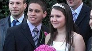 Amber Aguilar and her husband, Diego